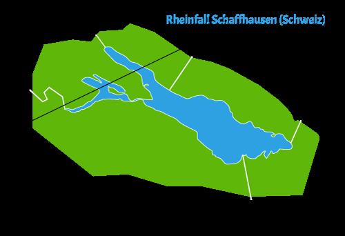 Rheinfall Schaffhausen - Karte