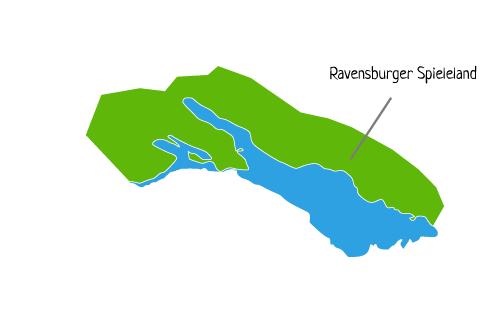 Die Lage - Ravensburger Spieleland Karte