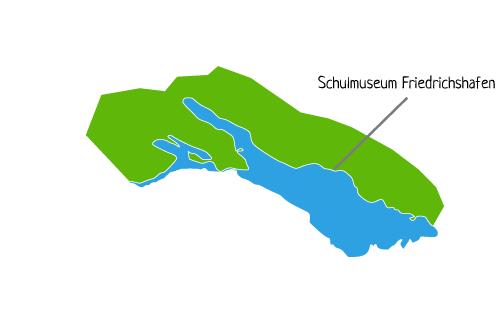 Karte Schulmuseum Friedrichshafen am Bodensee