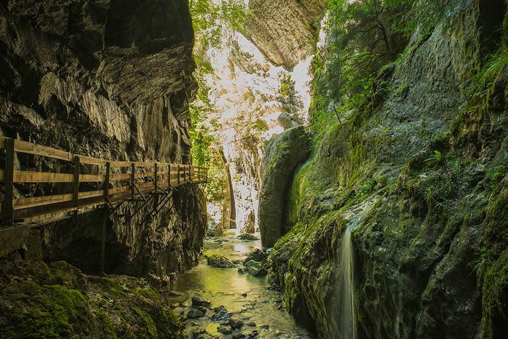 Schluchten in Dornbirn - Familienurlaub in Vorarlberg am Bodensee
